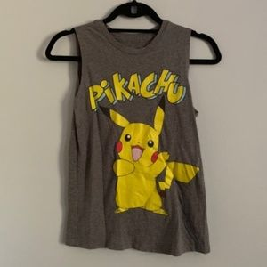 Grey Pikachu Pokemon T shirt from Wet Seal